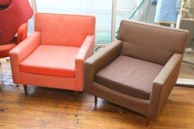 (2) Milo Baughman For Thayer Coggin Club Chairs