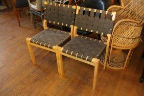 Pair Of Alvar Aalto Chairs.
