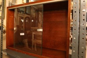 George Nelson Glass Door Book Case Cabinet.