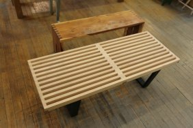Slat Bench Along With Dovetailed Bench.