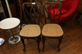 Pair Of Pretzel Back Bentwood Chairs.
