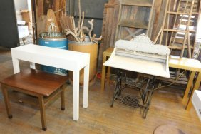 Consoles, Marble Top Sewing Stand, And Dunbar