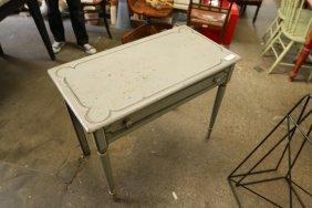 Gray Painted Wood Vanity Table.