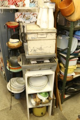 Large Grouping Of Kitchen Items Incl Porcelain,