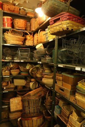 Large Grouping Of Baskets, Cheese Boxes, Picnic