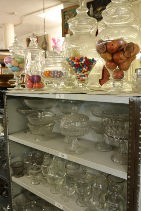 Grouping Of Glass Compotes, And Apothecary Jars.