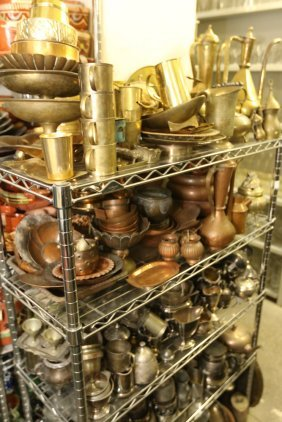 Large Grouping Of Brass, Copper, And Silver