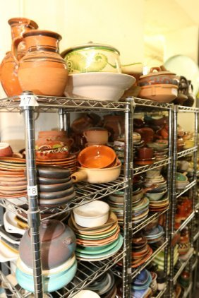 Large Grouping Of Mexican Pottery.