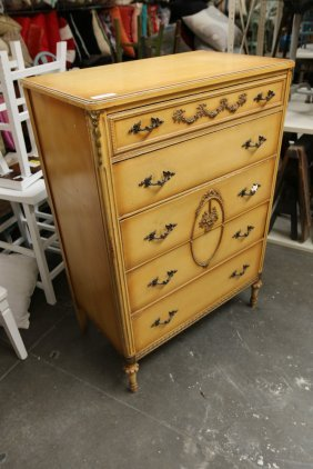 French Style Five Drawer Chest.