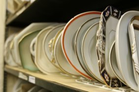 Grouping Of Gold Rim Platters Inc Ironstone,