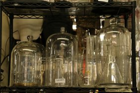 Collection Of Chemistry Apparatuses, And Glass