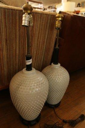 Pair Of Ceramic Lamps.