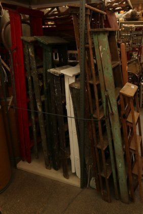 Large Grouping Of Vintage Wooden And Painted