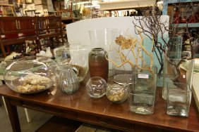 Grouping Of Large Glass Vases Incl Old Glass
