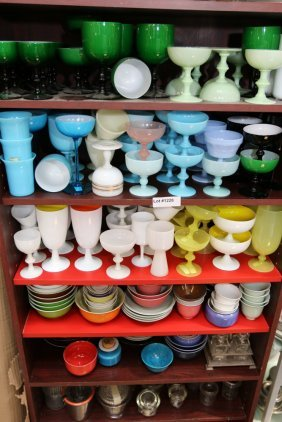 Large Grouping Of Assorted Opaline And Glass
