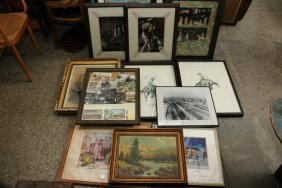 Assortment Of Framed Photos, Prints, And
