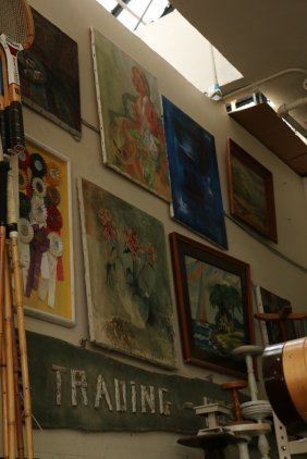 One Wall Of Paintings And Artwork Incl Old