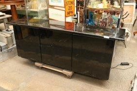 Black Lacquer Console Cabinet.