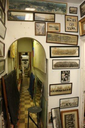 Wall Full Of Yard Long Photographs Incl Military,
