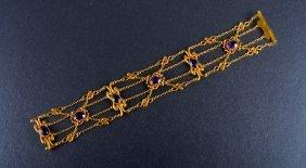 Victorian Yellow Gold Amethyst Bracelet