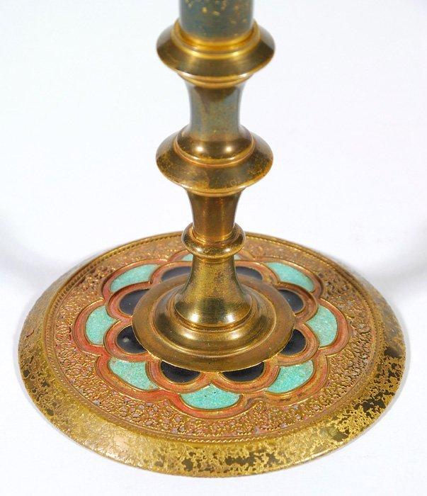 Tiffany Gold Dore And Enamel Trumpet Vase Lot 141