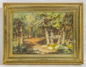 Albert Andre Impressionistic Landscape