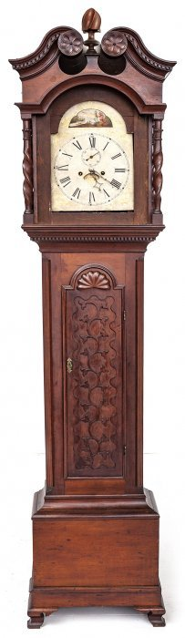 Penn. Chippendale Tall Case Clock