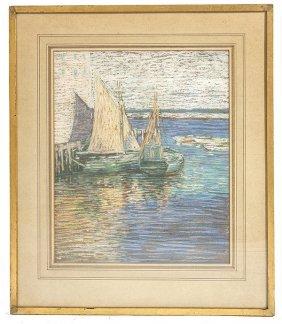 Charles Salis Kaelin (1858-1929) Pastel