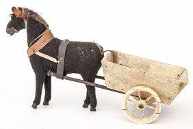 Scrimshaw Horse & Cart Toy