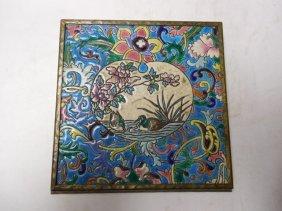 Longwy Pottery Glazed Trivet