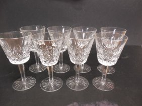 8 Waterford Lismore Wine Glasses