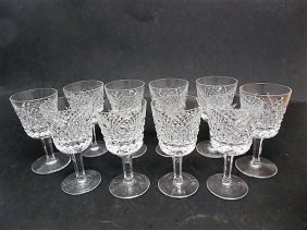10 Waterford Templemore Port/wine Glasses