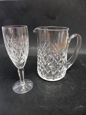 Waterford Pitcher & Flute Glass