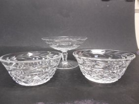 3pcs Waterford Crystal