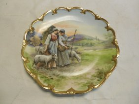 Austrian Hand Painted Wall Plate- Signed