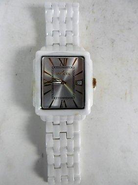 Invicta White Ceramic Watch