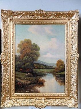 Oil/canvas Board , Landscape