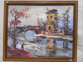 O/b River Scene By Morris Katz