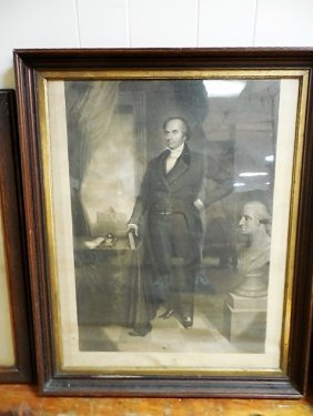 Steel Engraving Daniel Webster