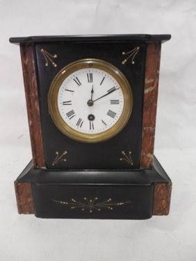 Black Slate/marble Mantle Clock