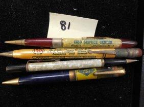Lot 4 Advertising Mechanical Pencils