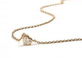 Gold Pendant With Diamond , XX Century