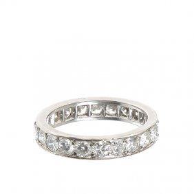 Wedding Ring Cartier-type, XX Th Century Platinum  ~