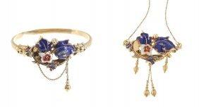 Jewellery Set, Half Of XIX Th Century, Biedermeier B