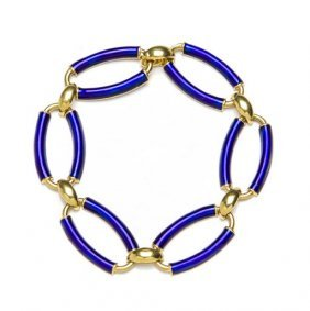 Bracelet Decorated With Enamel, Italy, 20th Century;