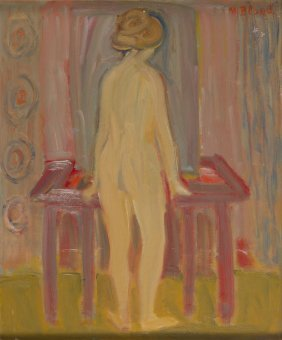 Maurice Blond (1899 - 1974) Standing Nude; Oil On