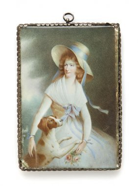 Unknown Artist, 19th Century, Miniature - A Lady With