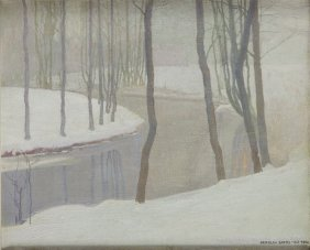 "Bronislaw Bartel (1887 - 1968) ""winter"", 1913; Oil On"