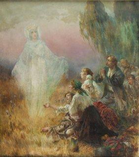 Konstanty Gorski (1864 - 1934) Apparition Of The Virgin