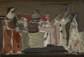 Alfred Aberdam (1894 - 1963) Still Life; Oil On Board,